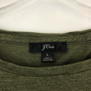 J. Crew Tops - J. Crew Ruffle Back Linen Shirt (B1)